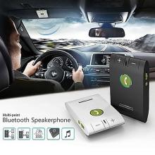 Sada handsfree bluetooth 4.0 do auta s magnetickým držákem + autonabíječka (1A) - bílá