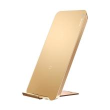 Bezdrátová nabíječka / podložka Qi BASEUS - 2 nabíjecí cívky - rychlé nabíjení 9V - USB-C - zlatá