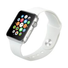 Řemínek pro Apple Watch 44mm Series 4 / 38mm 1 2 3 - silikonový - bílý