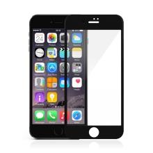 Tvrzené sklo (Tempered Glass) DEVIA pro Apple iPhone 7 Plus / 8 Plus - na přední stranu - 2,5D hrana - černý rámeček - 0,33mm