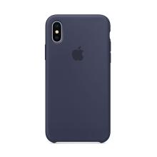 Originální kryt pro Apple iPhone X - silikonový - půlnočně modrý