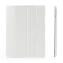 Pouzdro + Smart Cover pro Apple iPad 2. / 3. / 4.gen. - bílé průhledné - elegantní textura