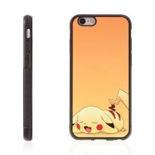 Kryt pro Apple iPhone 6 Plus / 6S Plus - kovový povrch - gumový - Pokemon Go / spící Pikachu