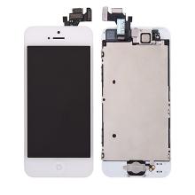 Kompletně osazená přední čast (LCD panel, touch screen digitizér atd.) pro Apple iPhone 5 - bílý - kvalita A+