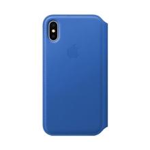 Originální pouzdro Apple Folio pro Apple iPhone X - kožené - elektro modré