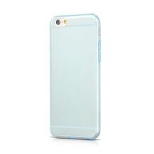 Kryt HOCO pro Apple iPhone 6 / 6S - antiprachová záslepka - tenký gumový průhledný - modře probarvený