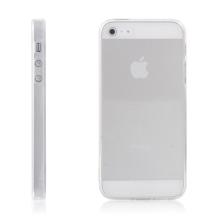 Ochranný plasto-gumový kryt s antiprachovou záslepkou pro Apple iPhone 5 / 5S / SE - průhledný