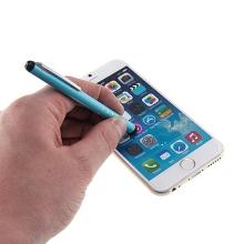 Kovové dotykové pero / stylus pro Apple iPhone / iPad / iPod - modré