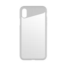 Kryt BENKS pro Apple iPhone X - plastový / gumový - bílý / průhledný