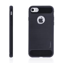 Kryt IPAKY pro Apple iPhone 7 / 8 - výřez pro logo / gumový - tmavě modrý