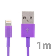 Synchronizační a nabíjecí kabel Lightning pro Apple iPhone / iPad / iPod - fialový - 1m