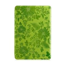 Ochranné pouzdro DEVIA pro Apple iPad mini / mini 2 / mini 3 se stojánkem a funkcí chytrého uspání - textura květů - zelené