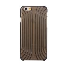 Plastový kryt BASEUS pro Apple iPhone 6 / 6S - výrazná struktura - průhledný černě probarvený