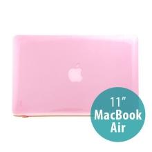 Tenký ochranný plastový obal pro Apple MacBook Air 11.6 - lesklý - růžový