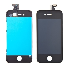 Náhradní LCD panel včetně dotykového skla (digitizéru) pro Apple iPhone 4 - černý - kvalita A
