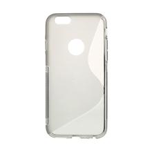 Kryt pro Apple iPhone 6 / 6S gumový výřez pro logo šedý