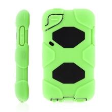 Ochranné plasto-silikonové pouzdro pro Apple iPod touch 4.gen. - zeleno-černé