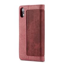 Pouzdro CASEME pro Apple iPhone Xr - stojánek - látkové - červené / růžové
