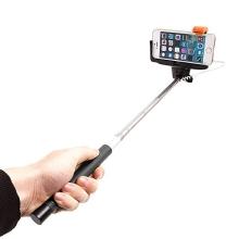 Teleskopická selfie tyč / monopod KJstar - kabelová spoušť - černá