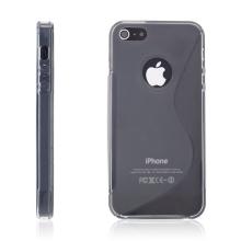 Protiskluzový ochranný kryt S line pro Apple iPhone 5 / 5S / SE - šedý