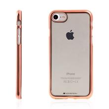 Kryt Mercury Ring 2 pro Apple iPhone 7 / 8 gumový - průhledný / Rose Gold rámeček