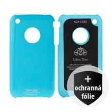 Ochranný plastový kryt SGP Ultra Thin pro Apple iPhone 3G / 3GS - světle modrý + ochranná fólie