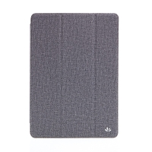 Pouzdro pro Apple iPad Air 1 / 9,7 (2017-2018) - látková textura / gumové - šedé