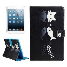 Pouzdro / kryt pro Apple iPad mini / mini 2 / mini 3 / mini 4 - integrovaný stojánek - kočka a ryba