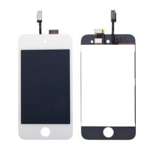 Náhradní LCD panel včetně dotykového skla (digitizéru) pro Apple iPod 4.gen. - bílý rámeček