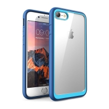 Kryt pro Apple iPhone 7 / 8 - odolné hrany - plastový / gumový - průhledný / modrý