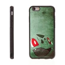 Kryt pro Apple iPhone 6 / 6S - kovový povrch - gumový - Pokemon Go / Bulbasaur