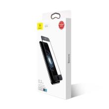 Tvrzené sklo (Tempered Glass) BASEUS pro Apple iPhone 7 Plus / 8 Plus - na přední stranu - černý rámeček - anti-blue-ray - 0,33m