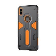 Kryt Nillkin pro Apple iPhone Xs Max - odolný - plast / guma - oranžový / černý
