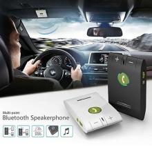 Handsfree bluetooth 4.0 sada do auta s magnetickým držákem + autonabíječka (1A) - černá