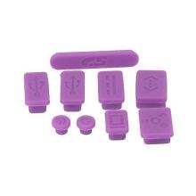 Antiprachové silikonové záslepky (sada 9ks) pro Apple MacBook, MacBook Pro a MacBook Air - fialové