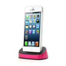Dock (dokovací stanice) pro Apple iPhone 5 / 5S / SE - růžovo-černá