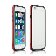 Ochranný plasto-gumový rámeček / bumper pro Apple iPhone 6 - červeno-černý