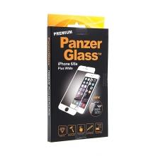 Tvrzené sklo / Tempered Glass PanzerGlass Premium pro Apple iPhone 6 Plus / 6S Plus - bílý rámeček - 0,4mm
