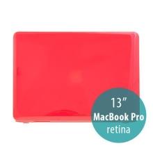 Tenký ochranný plastový obal pro Apple MacBook Pro 13 Retina (model A1425, A1502) - lesklý - červený