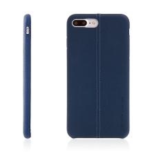 Kryt USAMS pro Apple iPhone 7 Plus / 8 Plus - umělá kůže - modrý