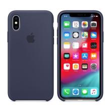 Originální kryt pro Apple iPhone Xs - silikonový - půlnočně modrý