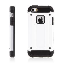 Kryt pro Apple iPhone 5 / 5S / SE - plasto-gumový / antiprachové záslepky - bílý