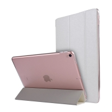 Pouzdro / kryt pro Apple iPad Pro 10,5 - funkce chytrého uspání + stojánek - elegantní textura - bílé