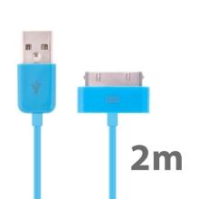 Synchronizační a nabíjecí USB kabel pro Apple iPhone / iPad / iPod – 2m modrý