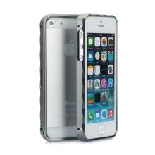Rámeček / bumper pro Apple iPhone 5 / 5S / SE hliníkový - šedý