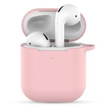Pouzdro / obal pro Apple AirPods 2019 s bezdrátovým pouzdrem - silikonové - růžové
