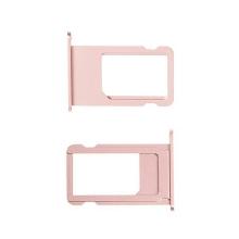 Rámeček / šuplík na Nano SIM pro Apple iPhone 6S Plus - růžově zlatý (rose gold) - kvalita A+