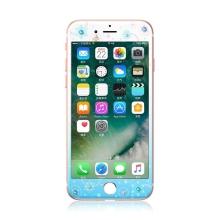 Tvrzené sklo (Tempered Glass) KAVARO pro Apple iPhone 7 - s kamínky Swarovski - sněhová vločka - modré / bílé - 0,33mm