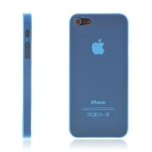 Ultra tenký ochranný kryt pro Apple iPhone 5 / 5S / SE (tl. 0,3 mm) - matný - modrý