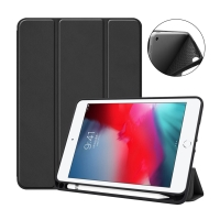 Pouzdro / kryt pro Apple iPad mini 4 / mini 5 - funkce chytrého uspání - gumové - černé